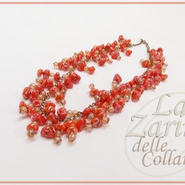 collana pendenti, collier pendenti, collier rosso, collane artigianali, gioielli fatti a mano, collane lavorate, lavorazioni gioielli,