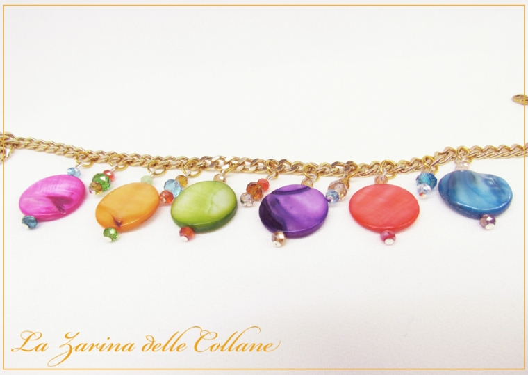 "collana madreperla cristalli ""Allegria"""
