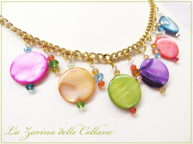 "collana multicolore madreperla ""Allegria"""