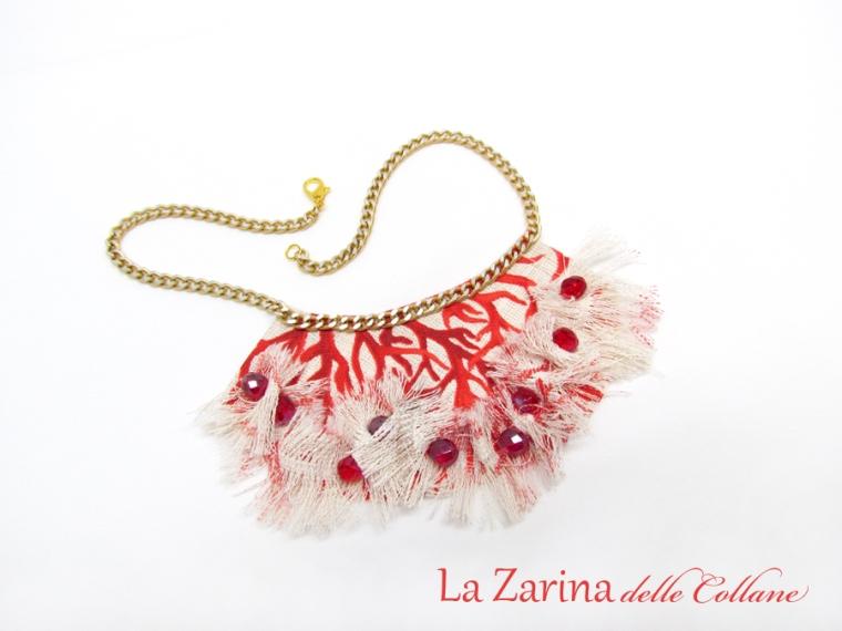 collana statement rosso corallo