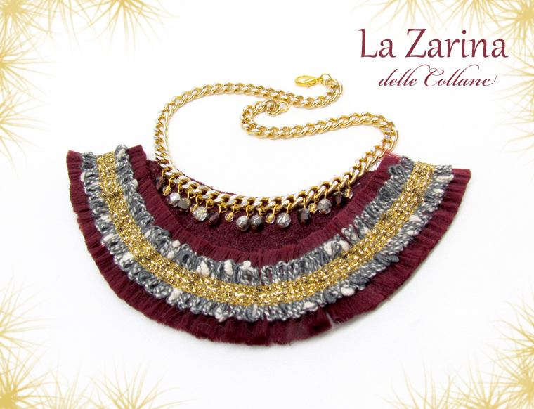collana statement bordeaux